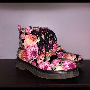 Worn once: Steve Madden spring floral boots